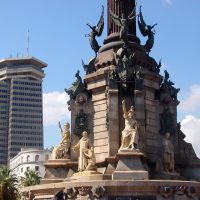 Base del monumento a Colón
