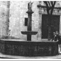 Antigua fuente de Sant Felip Neri. Año 1962.