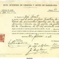 Factura cobrada por Einstein en su conferencia en Barcelona